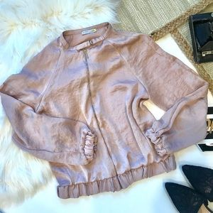 Zara W/B Collection Pink Satin Jacket